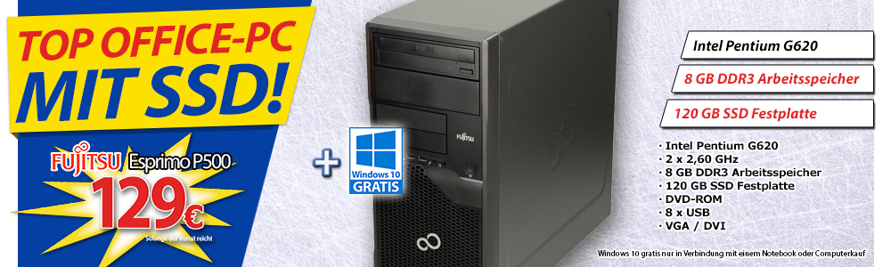 Top Office-PC mit SSD!