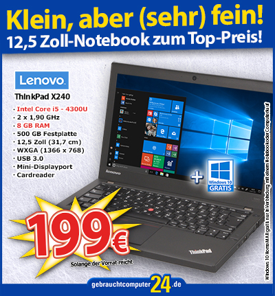 Lenovo ThinkPad X240 - 8 GB